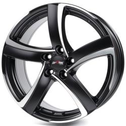 Racing black front polished